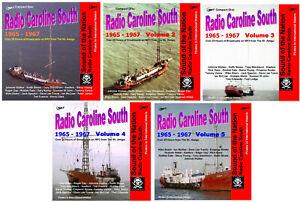Pirate Radio Caroline South Volumes 1,2,3,4 & 5 Listen In Your Car