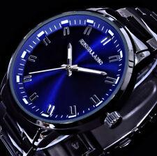Excellanc Herren Armband Uhr Schwarz Blau im Keramik Look B-Ware