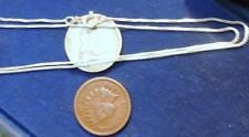 "Solid Sterling Silver Box Chain 18"" from Italy .85 MM New Jewelry ships free"