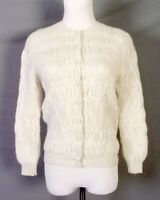 vtg 70s Rosanna 100% Wool Hand Loomed Cardigan Sweater Lined sz 40