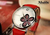 Reloj Pulsera Mujer Casual Flor Luxury Cuero Analógico Regalo San Valentin Amor