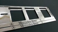 2X MERCEDES-BENZ NEUF EXCLUSIF SUPPORT DE PLAQUE D'IMMATRICULATION EUROPEA.