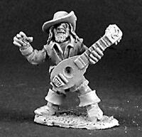 Reaper Miniatures Fynch Brassfog, Gnome Bard #03107 Dark Heaven Unpainted Metal