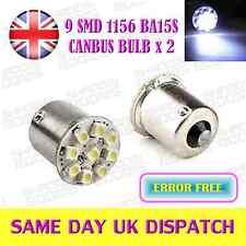 ERROR FREE CANBUS SMD BA15S P21W 1156 12V WHITE REAR TAIL LIGHT BULBS (PAIR)