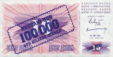 Bosnien und Herzegowina 100.000 Dinara 10.11.1993 ( auf 1992 ) Pick 34b (1)