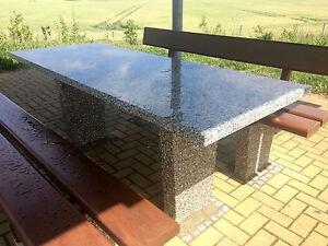 massive Tischplatte Granit Naturstein f. Gartentisch Esstisch Terrassentisch 4cm