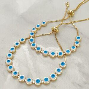 evil eye bracelet protection bracelet enamel evil eye amulet Mal de ojo turco