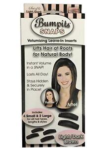 Black Bumpits Snaps Hair Volumizing Leave-in Inserts,Dark Brown/black Lifts Hair