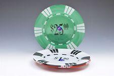 Luminarc Glass Poker Chip Snack Appetizer Dessert Plates- Set of 4