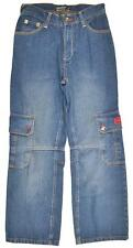 Ecko Unltd Big Boys Medium Wash Blue Cargo Jeans Size 18 $42