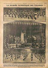 UFF Journée Patriotique des Tuileries Gymnastique Félia Litvinne Paris 1916 WWI