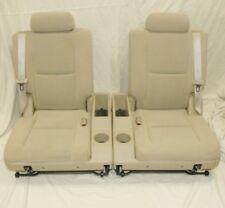 2007-2014 TAHOE YUKON SUBURBAN OEM 3RD ROW SPLIT SEATS CUPHOLDER TAN CLOTH F5102