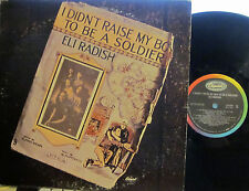 ► Eli Radish -I Didn't Raise My Son to Be a Soldier (Capitol 244) Danny Sheridan