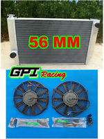 Aluminum Radiator for FORD Falcon XC XD XE XF V8 or 6 cylinder Manual & 2 × FANS