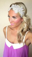 Ivory Pearl Vintage Diamante Flower Hair Head Piece Band Choochie Choo Bridal