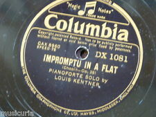 "78rpm 12"" LOUIS KENTNER chopin imromptu Ab / waltz 7 C# min DX 1081"