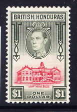 BRITISH HONDURAS George VI 1938 SG159 $1 - mounted mint. Catalogue £50