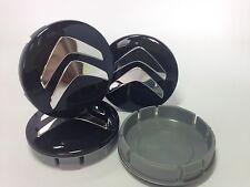 CITROEN Cache Moyeux Centres de Roue Chrome Emblem 4p x 60mm/55mm  *NEUF*