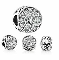 Genuine Pandora Sterling Silver Radiant Bloom Crystal Charm 791762CZ ALE 925