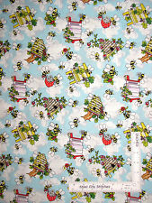 Honey Bees Bumble Bee Hive Cotton Fabric Fabriquilt Inc Krazy Kritters - Yard