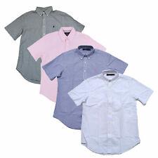 Ralph Lauren мужская рубашка воротник короткий рукав льняной новый новый с ценниками Xs S M L Xxl