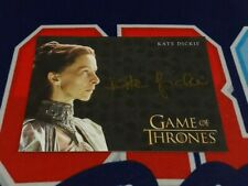 2020 The Complete Game of Thrones Kate Dickie Gold Ink Autograph