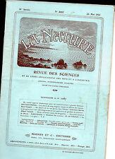 La Nature- Mai 1913 - Revue des sciences - Chemin de Fer sur glacier en Alaska