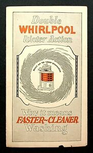 C.1926 ADVERTISEMENT BROCHURE FOR THE 1900 WHIRLPOOL WASHER CO. BINGHAMTON NY
