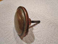 ancienne  poignée ronde de meuble-tiroir 1940 en cuivre