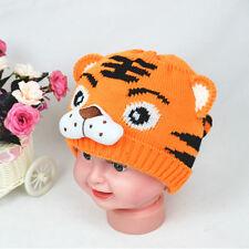 Tiger Pattern Newborn Baby Kid Animal Beanie Knitting Crochet Hat Warm Caps
