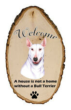 Outdoor Welcome Sign (Tp) - White Bull Terrier 94099