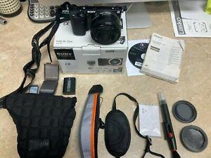 Sony Alpha NEX-5R 16.1MP Digital Camera - Black w/16-50 Lens, Bag, and Extras