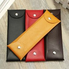 Leather Ballpoint Pen Pencil Case Bag PU Cosmetic Storage Stationery Bags