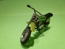 POLISTIL POLITOYS YAMAHA CROSS MOTOR CYCLE - GREEN 1:24? - VERY GOOD CONDITION