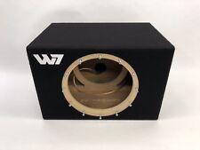 JL Audio 12W7 AE sealed subwoofer box with white plexi logo