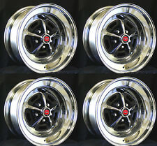 Magnum 500 Wheels Set of 4 15x7 Set Complete with red caps and lug nuts