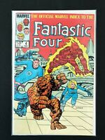 OFFICIAL MARVEL INDEX TO FANTASTIC FOUR #4 MARVEL COMICS 1986 VF+