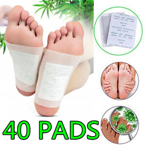 40 PCS Detox Foot Pads Patch Detoxify Toxins Fit Health Care Pad Cleanse Health