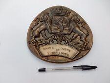 1950s era metal plaque of Luxembourg 170 X 160 mm     ref8spade
