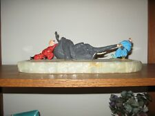 Ron Lee Clowns - Push and Pull signed sculpture