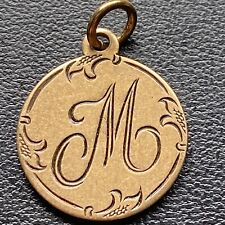 "Love Token """" M """" on 1887 Jewelry 1887 Seated Liberty Coin Quartersize #23163"