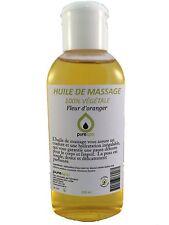 Huile de MASSAGE végétale senteur FLEUR D'ORANGER , 100ml PURESPA by PURENAIL