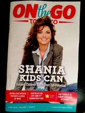 """NEW ** SHANIA TWAIN - """"ON THE GO"""" Magazine - Toronto, Canada Issue - JUNE 2018"""