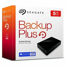 Seagate Backup Plus 5TB Desktop External Hard Drive USB 3.0 For Win & Mac NEW!