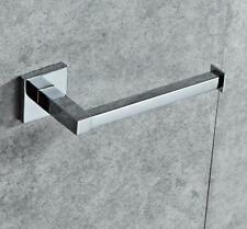 Bathroom Toilet Roll Paper Holder Wall Mount Rail Hanger Chrome Stainless Steel