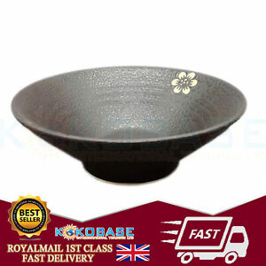 UK Japanese 8 inch Ramen Noodle Rice Bowl Black Made in Japan Kitchen Home