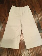 Derek Lam 10 Crosby Tan Linen Culottes, Size 12