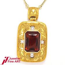 Collier - 14K Gold+ 833er-Gelbgold - Citrin - Diamanten ca. 0,16ct - 20,6g