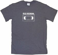 Old School VCR VHS Tape Logo Mens Tee Shirt Pick Size Color Small-6XL