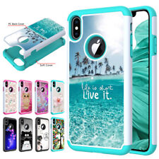 For iPhone 11 Pro XS Max XR 6s 7 8+Hybrid Phone Case Shockproof Protective Cover